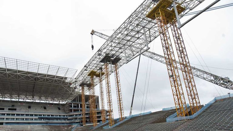 Building a legacy: Work on venues is behind schedule