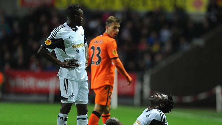 Wilfried Bony: Suffered a hamstring injury against Valencia