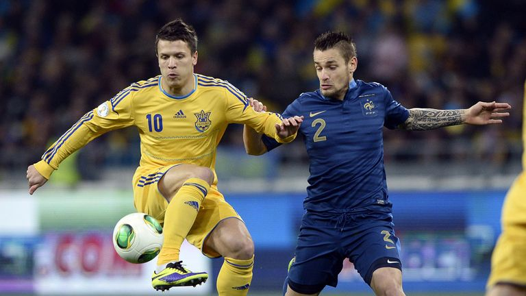 Yevhen Konoplyanka (l): Ukraine winger wanted by Liverpool and Spurs