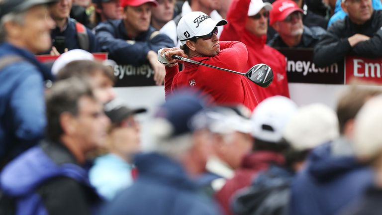 Adam Scott: Holds a two-shot lead in Sydney