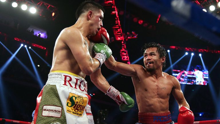 Manny Pacquiao (right): Returned to form with dominant performance