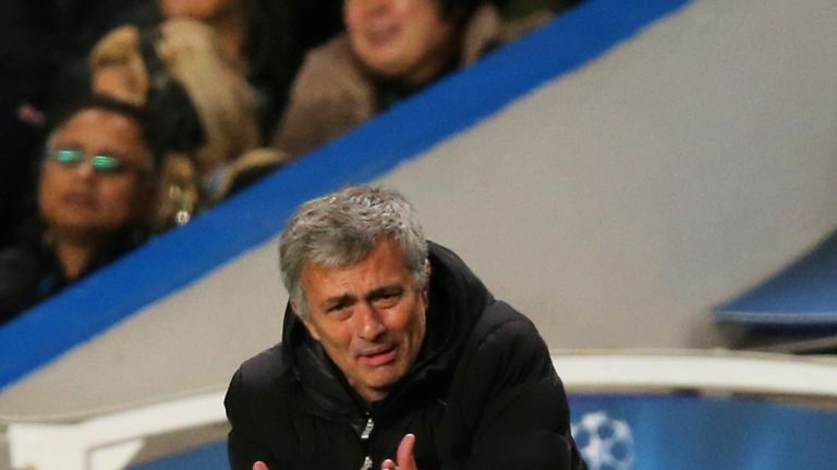 Jose Mourinho: On the touchline against Schalke