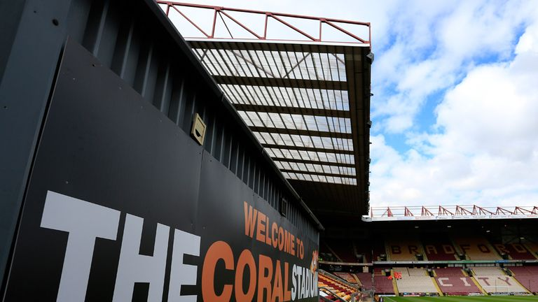 The Coral Windows Stadium: Bradford City's ground was opened in 1886 as Valley Parade.