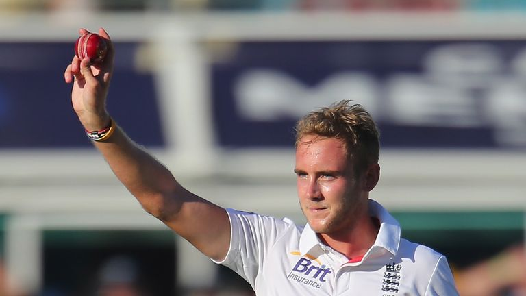 Stuart Broad: England seamer celebrates his five-wicket haul at the Gabba