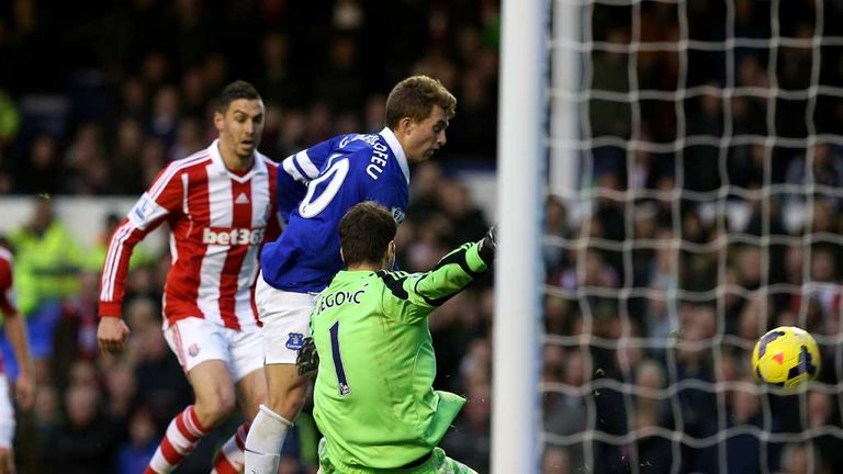 Gerard Deulofeu: Breaks the deadlock for Everton