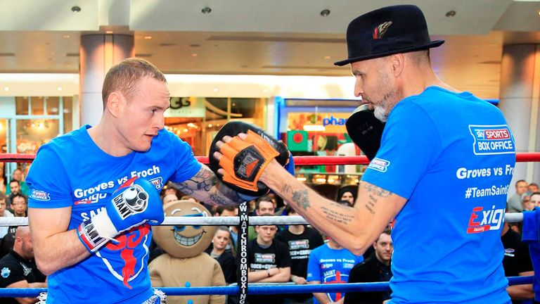 Paddy Fitzpatrick (right) and Groves no longer work with each other