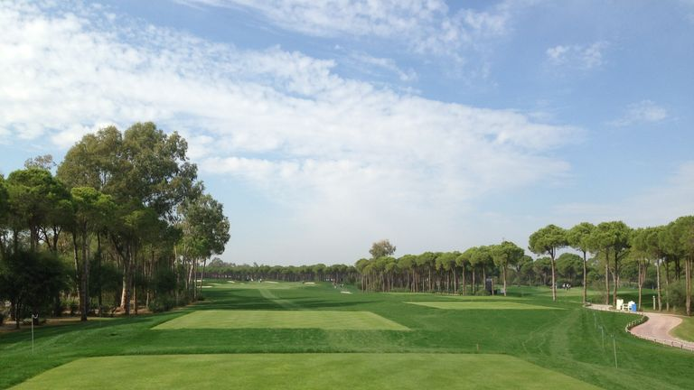 The Montgomerie Maxx Royal is very tree-lined