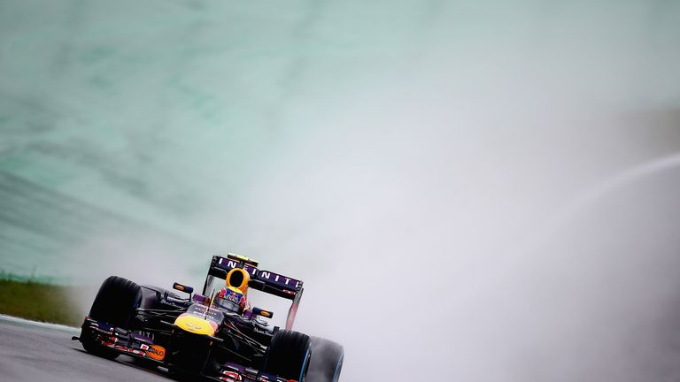 Mark Webber: Fastest in wet final practice session