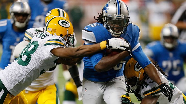 Joique Bell: Rushed for 94 yards and a touchdown in Detroit victory