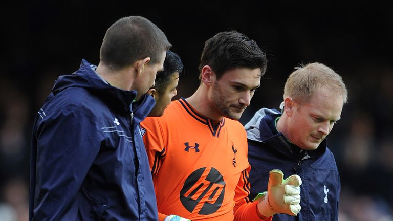 Hugo Lloris: Required medical attention after a collision with Everton's Romelu Lukaku
