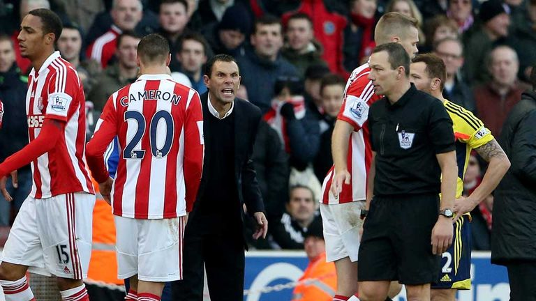 Sunderland manager Gus Poyet was furious with the red card