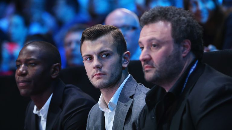 Jack Wilshere (centre): Determined to concentrate on club matters before next summer's World Cup