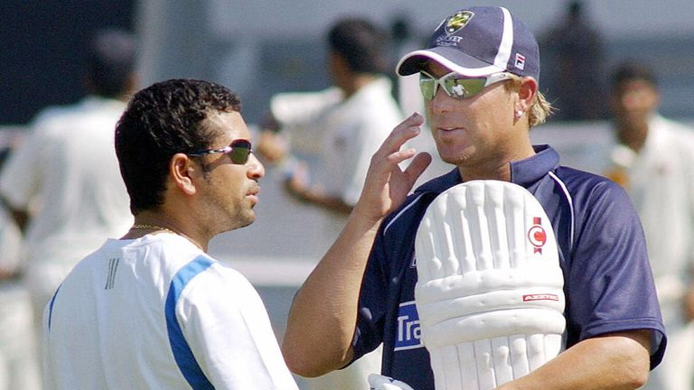 Shane Warne says he and Sachin Tendulkar share a great deal of respect for each other