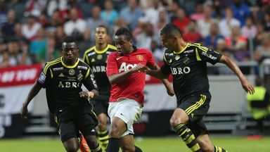 Nabil Bahoui: In action against Manchester United