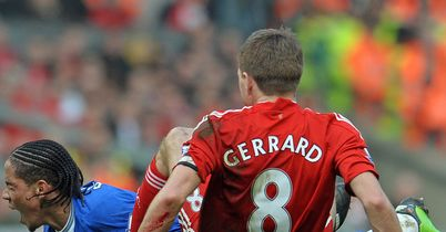 Steven Pienaar and Steven Gerrard: Clash last season