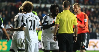 Swansea were fuming over Stoke's late penalty award