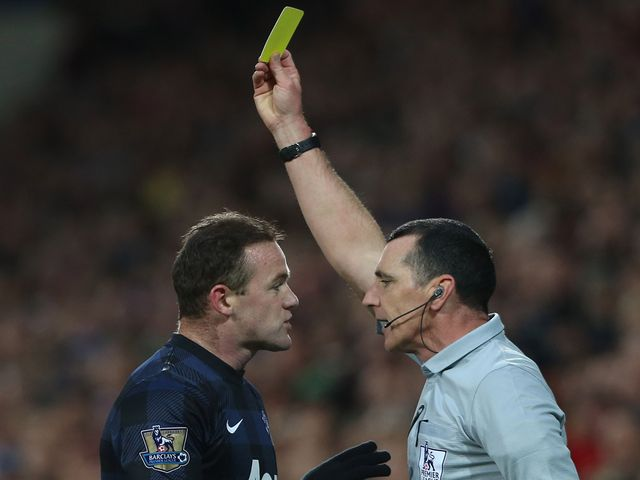 Rooney was perhaps lucky to escape with a yellow card