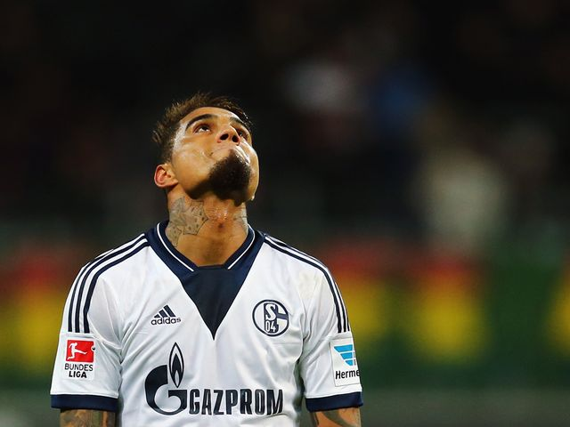 Kevin Prince Boateng of Schalke is left frustrated following draw