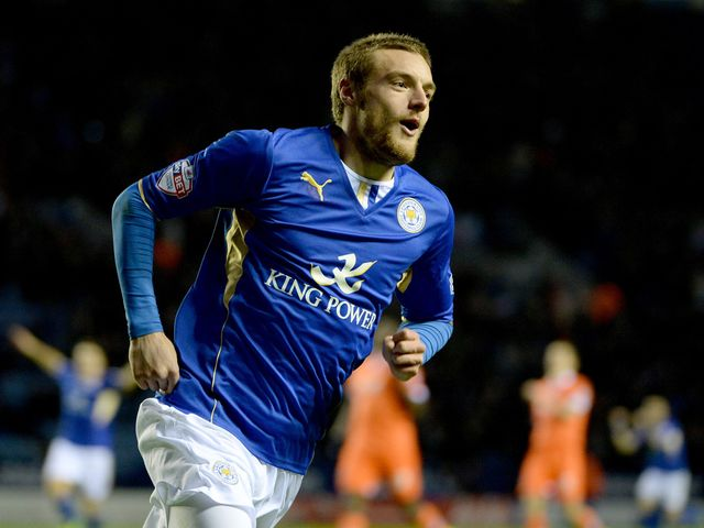 Vardy: On target in Leicester victory