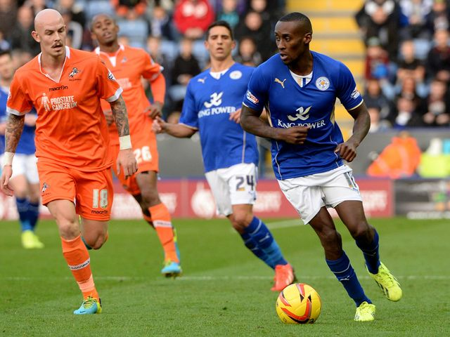 Lloyd Dyer is on the ball for Leicester
