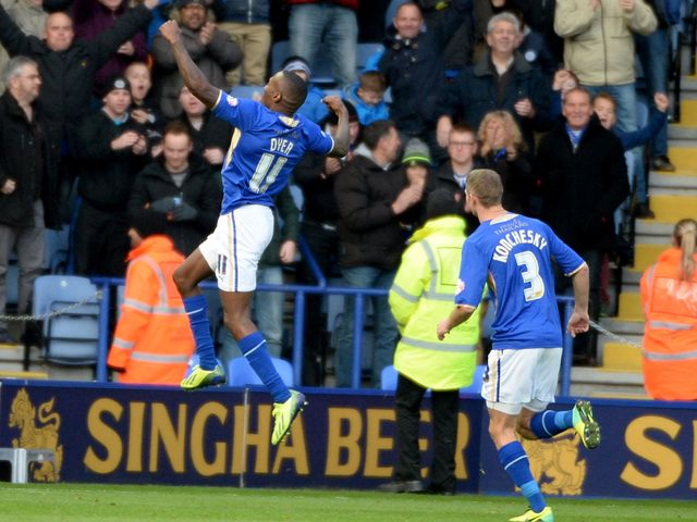 Lloyd Dyer: Found the net for Leicester