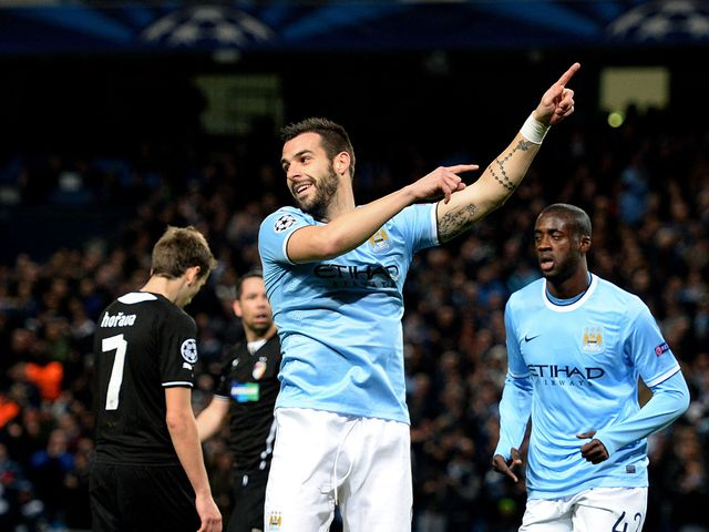 Alvaro Negredo came off the bench to score City's third