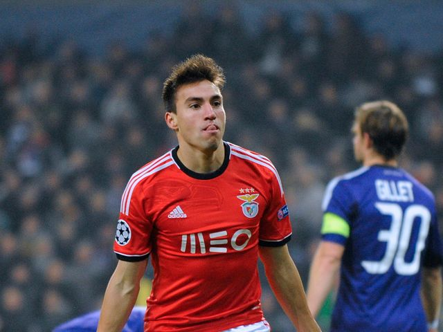 Nicolas Gaitan celebrates his goal for Benfica