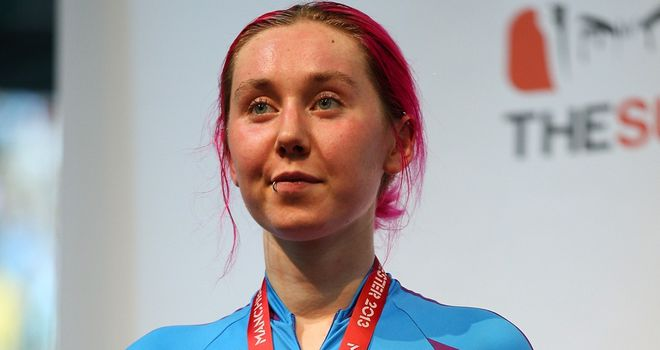 Katie Archibald impressed at the Track World Cup while representing the Scottish Braveheart team