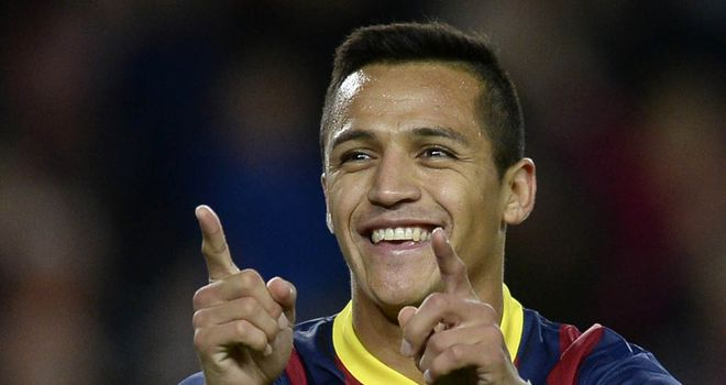 Alexis Sanchez: Tapped in the winner for Barca