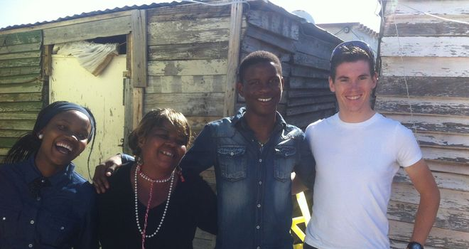 Swift met Dlamini at his home in the townships