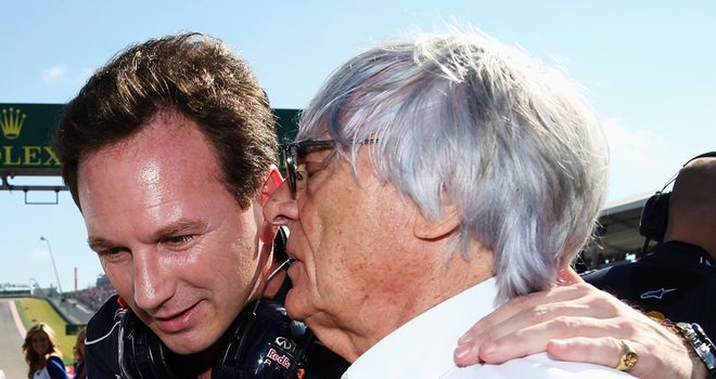 Christian Horner and Bernie Ecclestone are good friends