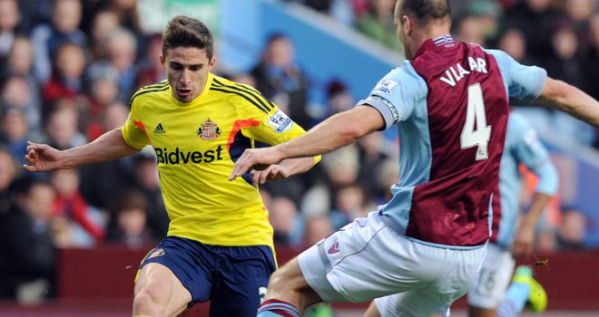 Fabio Borini: Hit the woodwork