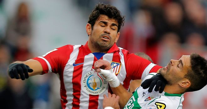 Diego Costa was on the scoresheet again for Atleticio