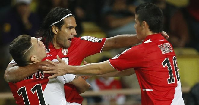 Falcao's equaliser earned Monaco a point