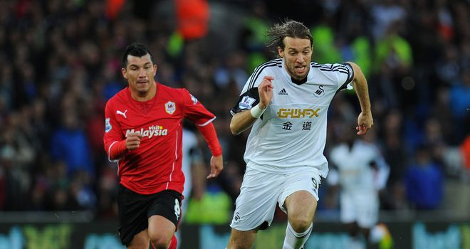 Gary Medel: Crucial in breaking up Swansea's attacks through the likes of Michu