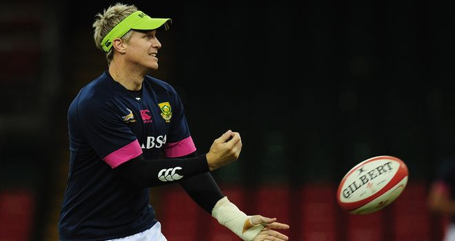 Jean de Villiers: Will win this 94th cap against Wales