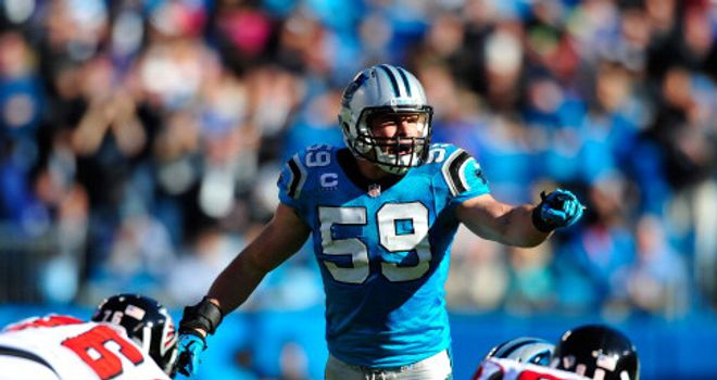 Luke Kuechly: helping the Panthers move up the rankings
