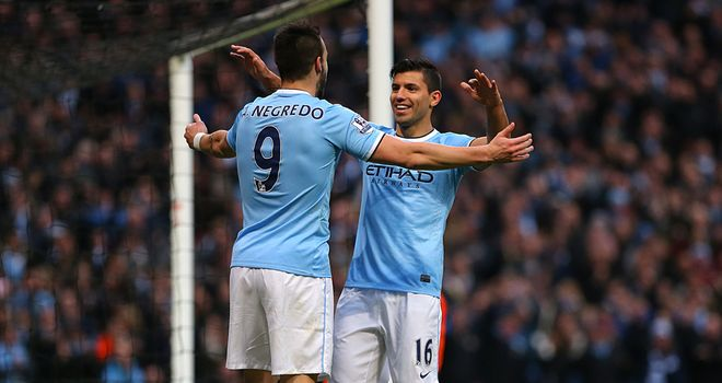 Alvaro Negredo and Sergio Aguero proved a devastating pairing for Manchester City