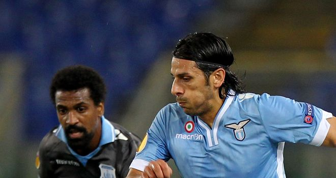Sergio Floccari: In action for Lazio