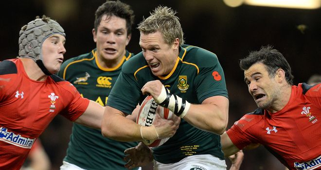 Jean de Villiers: Included in Barbarians squad