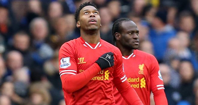 Daniel Sturridge: Shows his relief after goal
