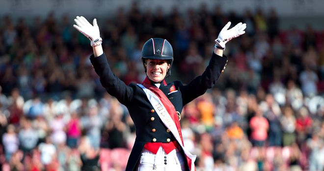 Charlotte Dujardin: Won special and freestyle events at 2013 European Championships