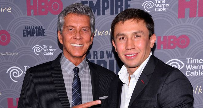 Gennady Golovkin with legendary ring announcer Michael Buffer