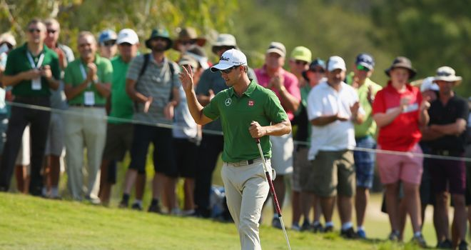 Adam Scott: Holds a two-shot lead at Royal Pines