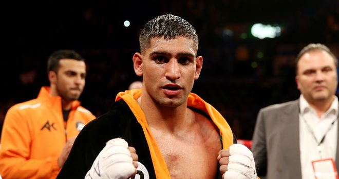 Amir Khan: Signed a contract in December that put him in line for a possible super-fight with Mayweather this year