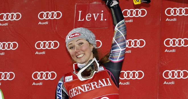 Mikaela Shiffrin: Won by more than a second in Levi