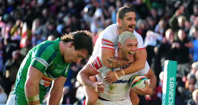 Ryan Hall: England winger scored first-half hat-trick against Ireland at Rugby League World Cup