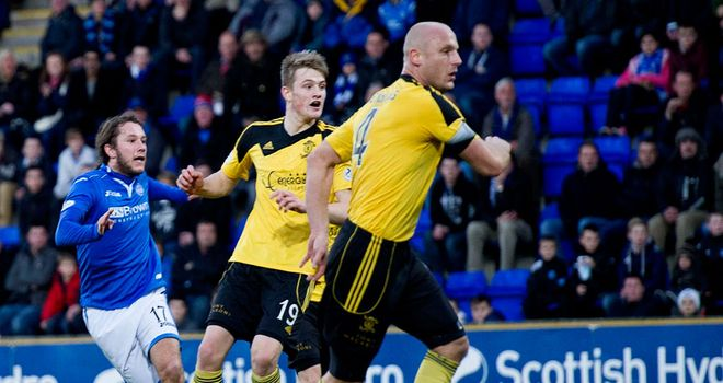 Steive May: Puts St Johnstone ahead against Livingston