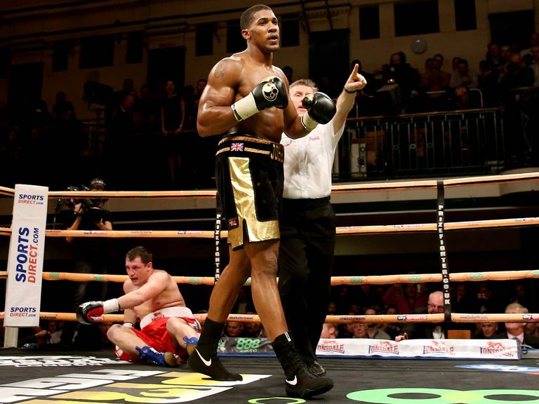 Anthony Joshua: Cantered to a third pro victory