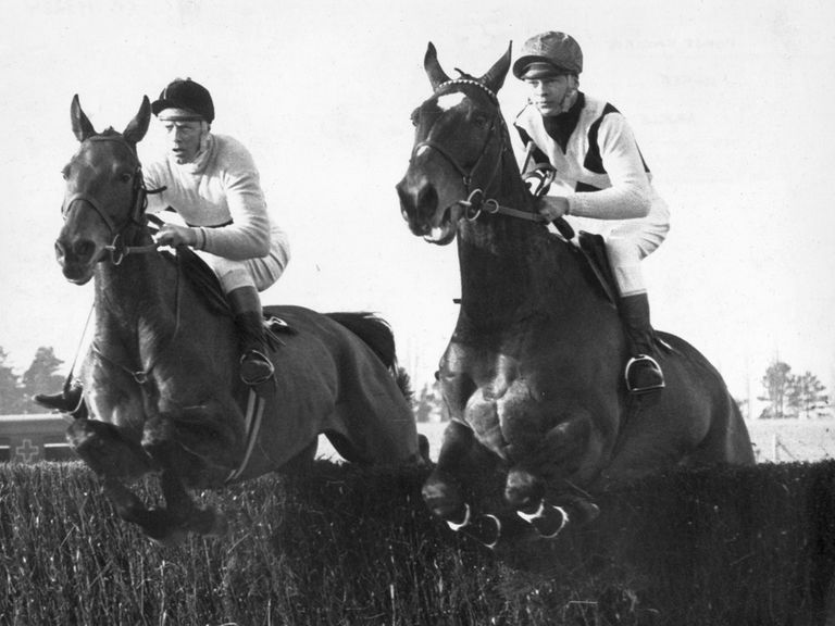 Mill House jumps alongside his great rival Arkle